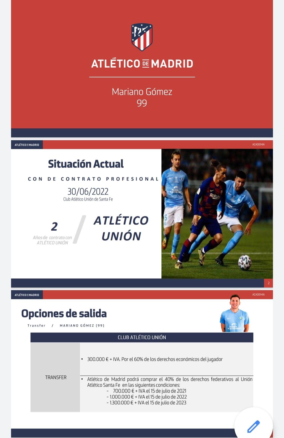 En detalle: Así es la jugosa oferta que presentó el Atlético por Mariano Gómez